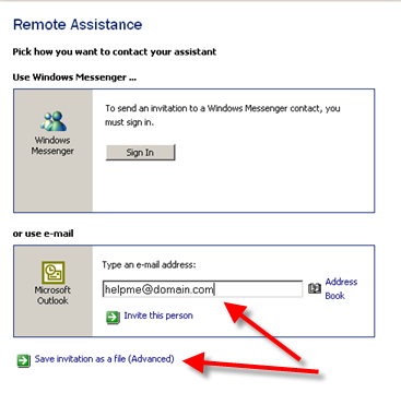 remote assistance windows 7 how to send invitation