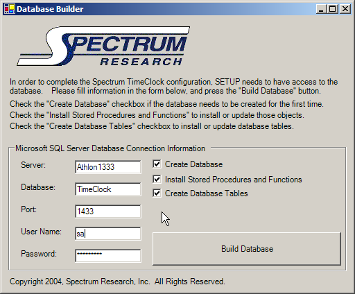 Time Clock Software Installation Guide - Spectrum TimeClock - Web